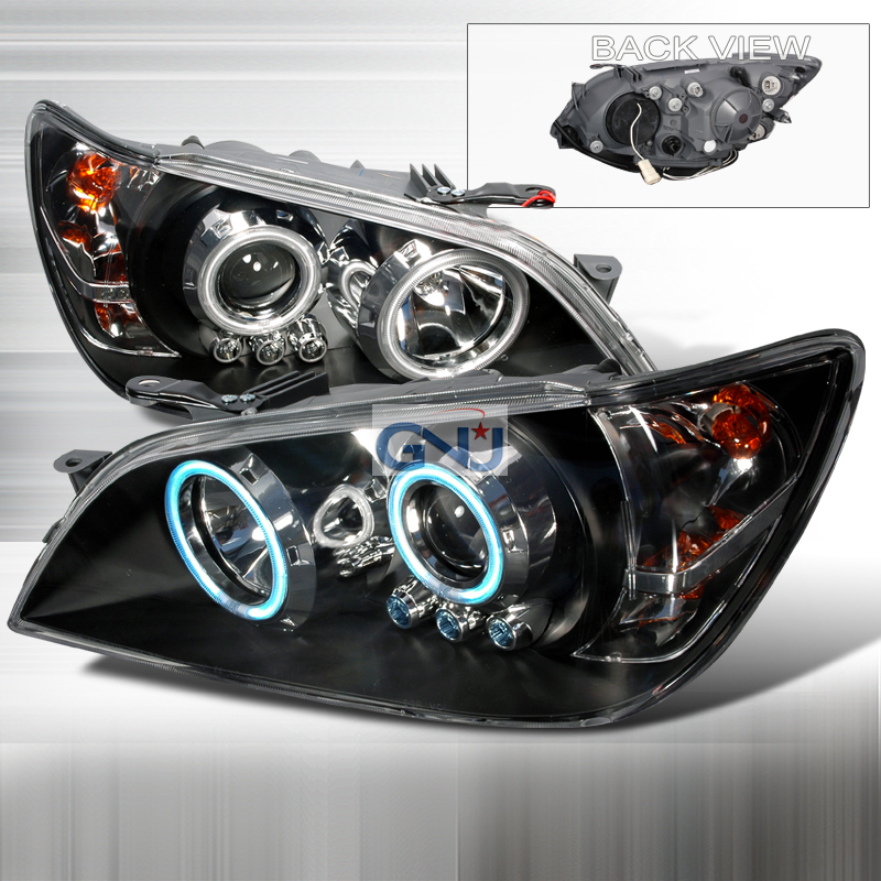 Lexus IS300  2001-2005 Black Ccfl Halo Projector Headlights