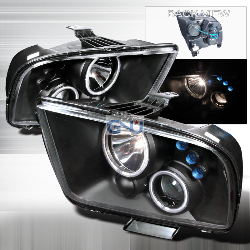 Ford Mustang  2005-2009 Black Ccfl Halo Projector Headlights