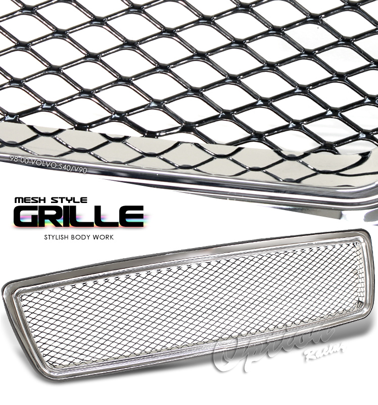 Volvo S40 1997-2000  Mesh Style Chrome Front Grill