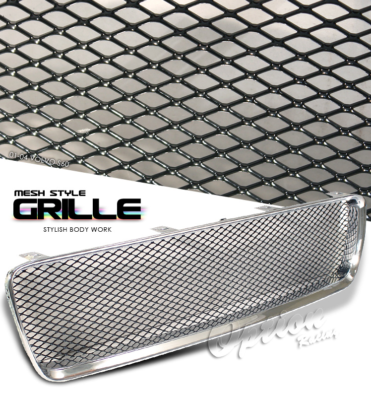 Volvo S60 2001-2004  Mesh Style Chrome Front Grill