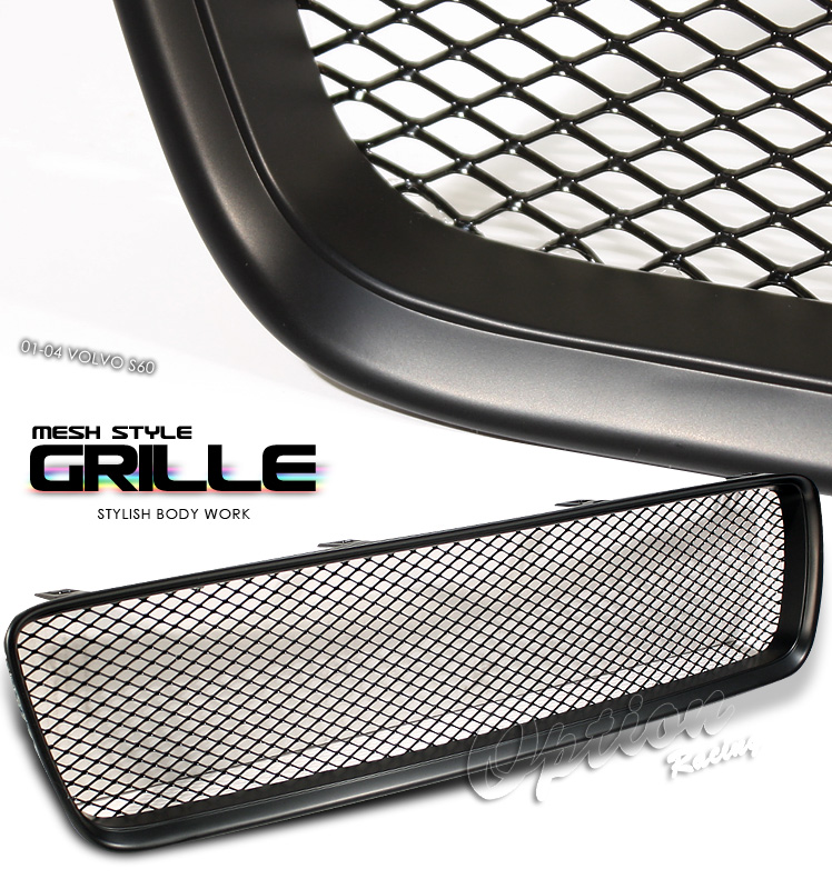 Volvo S60 2001-2004  Mesh Style Black Front Grill