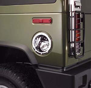 Hummer H2 03-06 Chrome Fuel Door Cover