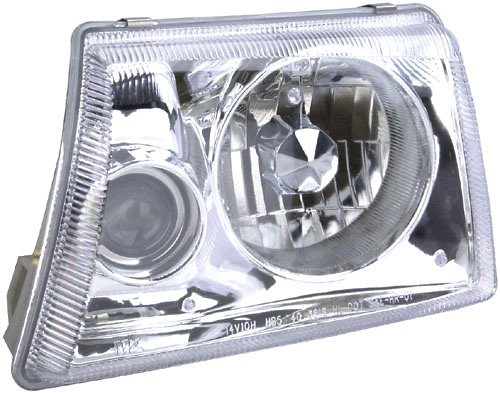 Ford Ranger 98-00 Projector Headlights with Chrome Housing/Clear Lens