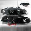 1997 Mitsubishi Eclipse  Gen II Black/Clear Projector Headlights