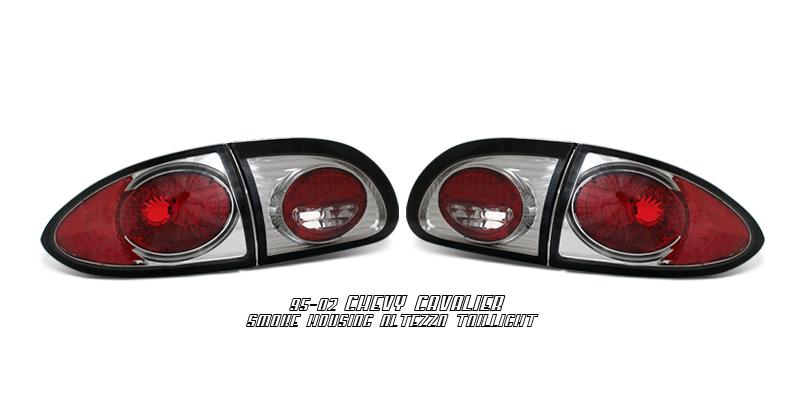 Chevrolet Cavalier 1995-2002  Smoke Euro Tail Lights