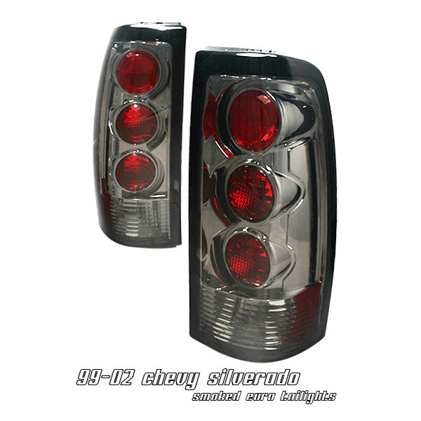Gmc Sierra 1999-2002  Smoke Euro Tail Lights