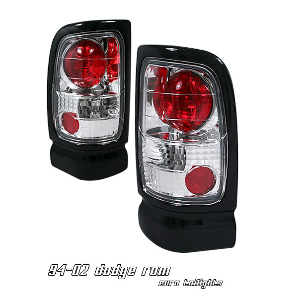 Dodge Ram 1994-2001  Chrome Euro Tail Lights