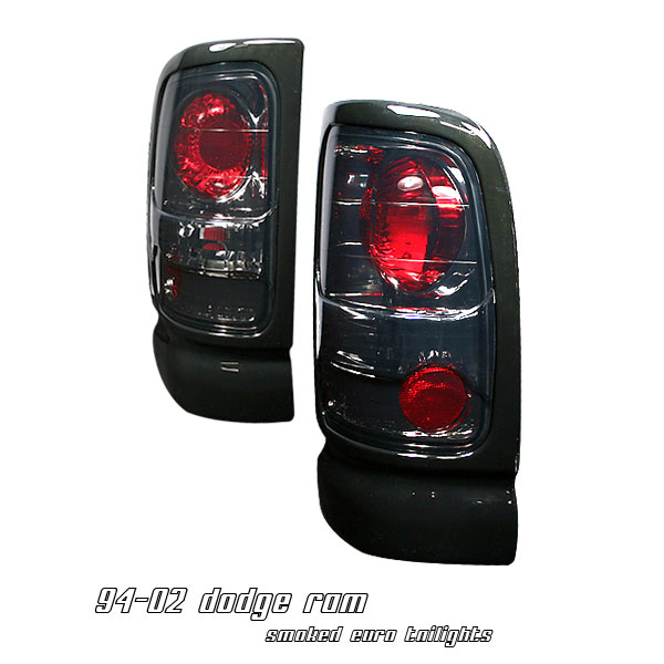 Dodge Ram 1994-2001  Smoke Euro Tail Lights