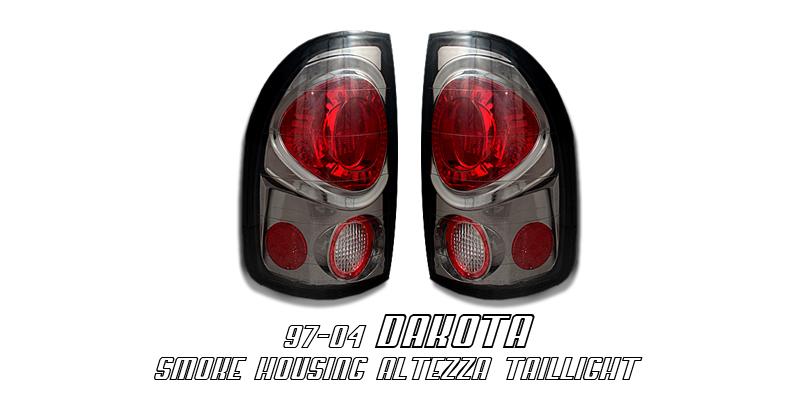 Dodge Dakota 1997-2004  Smoke Euro Tail Lights