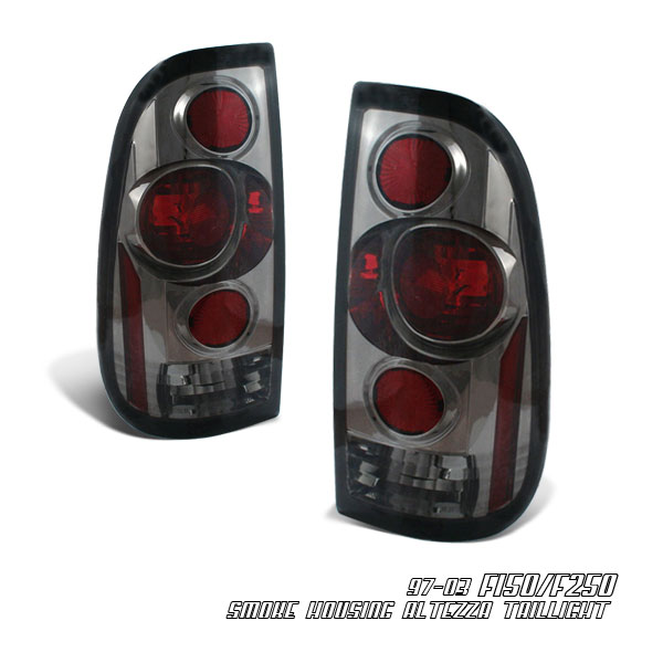 Ford Super Duty 1999-2007  Smoked Euro Tail Lights