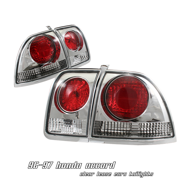 Honda Accord 1996-1997  Chrome Euro Tail Lights