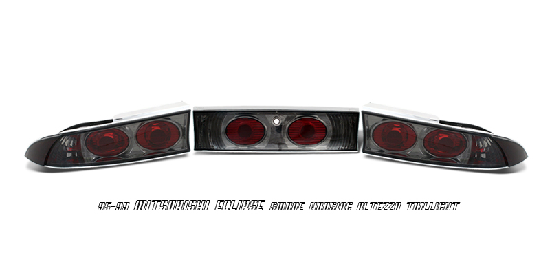 Mitsubishi Eclipse 1995-1999  Smoke Euro Tail Lights