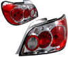 Subaru Impreza Sedan 2002-2003 Chrome Euro Tail Lights