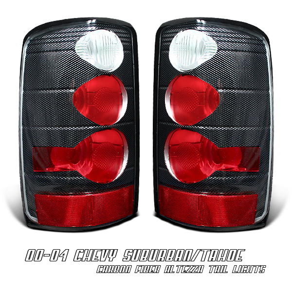 Chevrolet Suburban 2000-2006  Carbon Fiber Euro Tail Lights