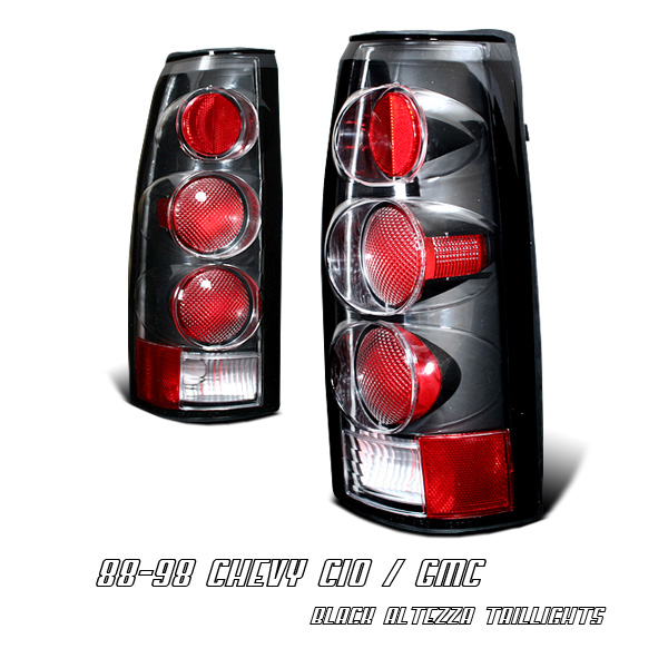 Chevrolet Blazer 1992-1994  Black Euro Tail Lights