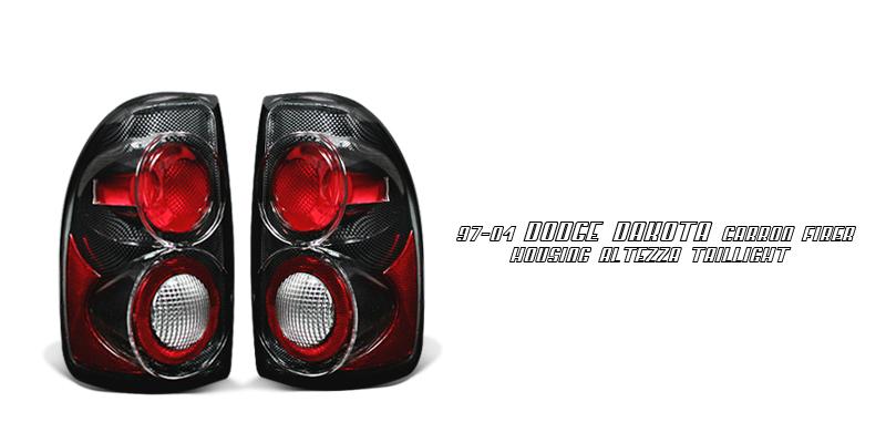 Dodge Dakota 1997-2004  Carbon Fiber Euro Tail Lights