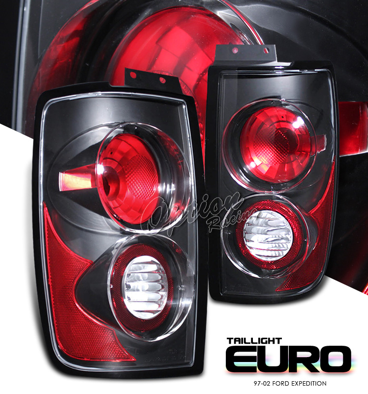 Ford Expedition 1997-2002  Black Euro Tail Lights