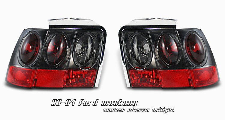 Ford Mustang 1999-2004  Smoke Euro Tail Lights