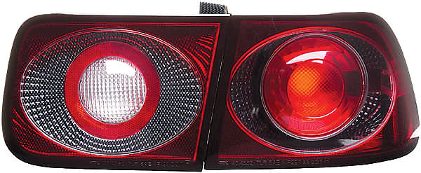 Honda Civic 96-00 Carbon Fiber Euro Tail Lights
