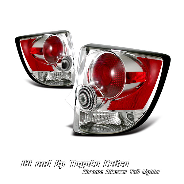 Toyota Celica 2000-2004  Chrome Euro Tail Lights