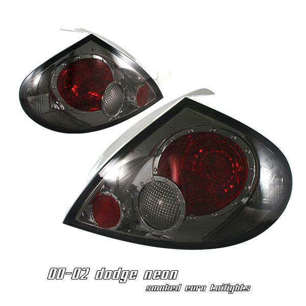 Dodge Neon 2000-2002  Smoke Euro Tail Lights