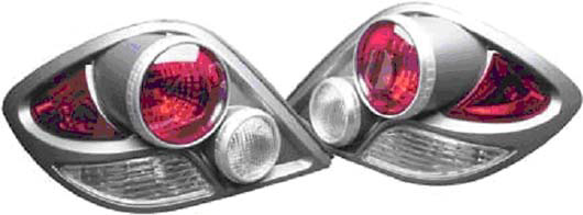 Hyundai Tiburon 03-Up 3D Retro Tail Lights Carbon Fiber