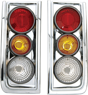 Hummer H2 2003-2004 Chrome Euro Tail Lights