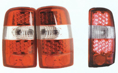 Chevrolet Tahoe 01-06 LED Tail Lights, Red Housing, Clear Lens