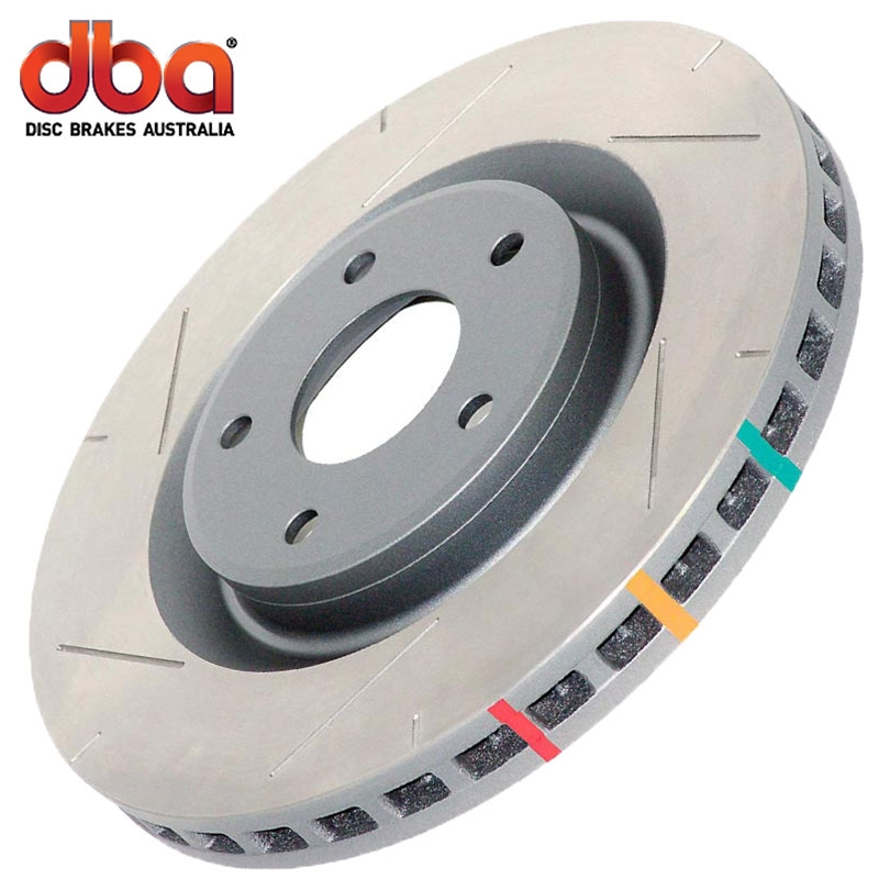 Dodge Charger Brembo Package, Inc. SRT-8 2006-2009 Dba 4000 Series T-Slot - Rear Brake Rotor