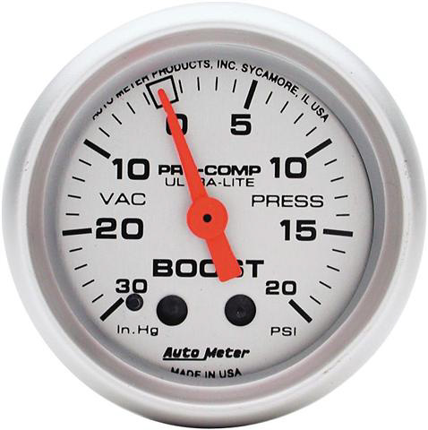 Auto Meter Mini Ultra-Lite 2-1/16 inch Boost Gauge