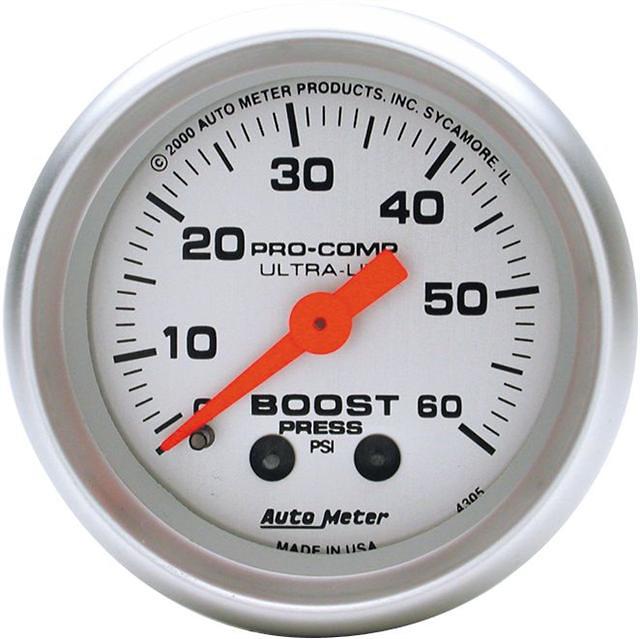 Auto Meter Ultra-Lite 2-1/16 inch Boost Gauge