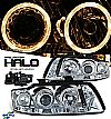2002 Audi A4   Halo Projector Headlights - Chrome Housing Clear Lens