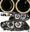 2004 Bmw 3 Series  2dr Black W/halo Projector Headlights