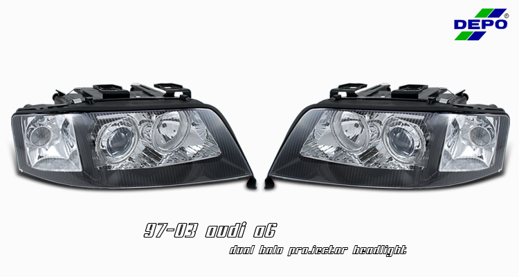Audi A6 1997-2003 Dual Halo Projector Headlights