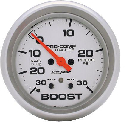 Auto Meter Ultra-Lite 2-5/8 inch Boost Gauge