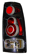 1996 Chevy Full Size Pickup  Retro 3D Carbon Fiber Euro Tail Lights 