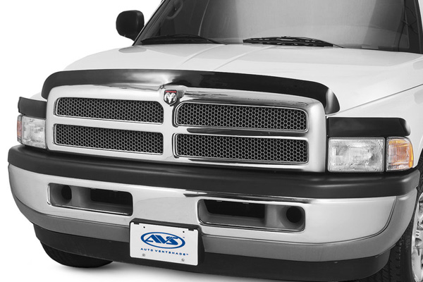 Ford Super Duty F-350 2008-2010 Bugflector Deluxe 3 Piece Hood Shield (smoke)