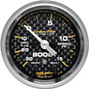 Auto Meter Carbon Fiber 30 IN/15 PSI 2-1/16 inch Boost Gauge