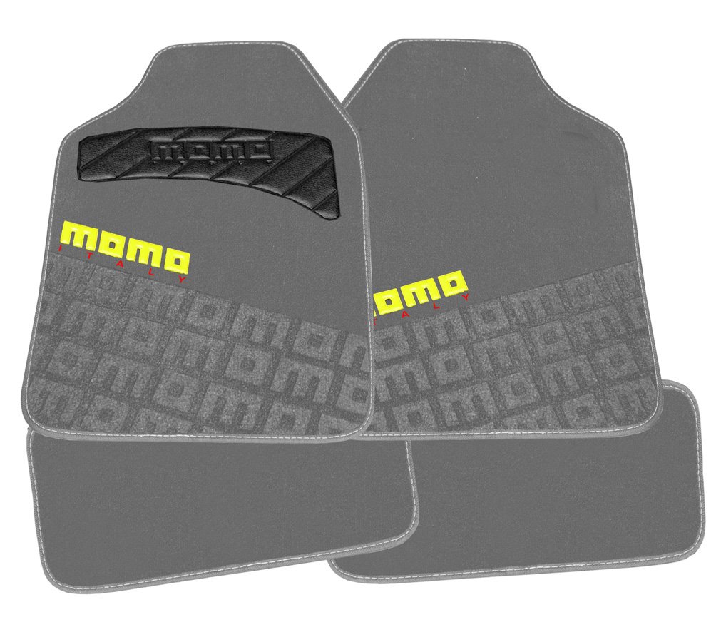 MOMO Floor Mats / Car Mats (4 Pcs) Grey/Yellow