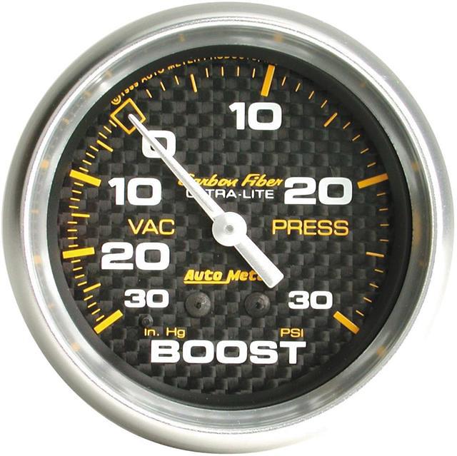Auto Meter Carbon Fiber 2-5/8 inch 30PSI Boost Gauge