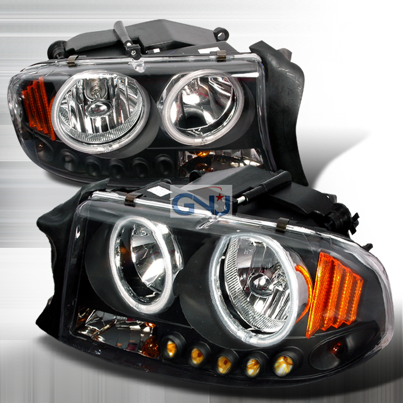 Dodge Durango 1997-2003 Black Euro Headlights