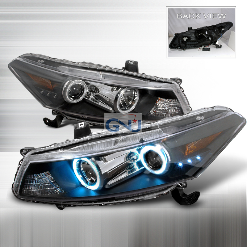 Honda Accord  2008-2009 Black Ccfl Halo Projector Headlights