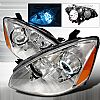 2004 Nissan Altima   Chrome Ccfl Halo Projector Headlights