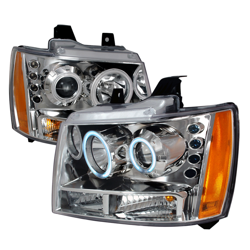 Chevrolet Tahoe  2007-2009 Chrome Ccfl Halo Projector Headlights