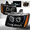 2009 Chevrolet Tahoe   Black Ccfl Halo Projector Headlights
