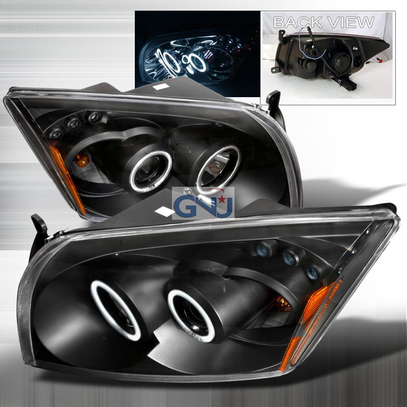 Dodge Caliber  2006-2010 Black Ccfl Halo Projector Headlights