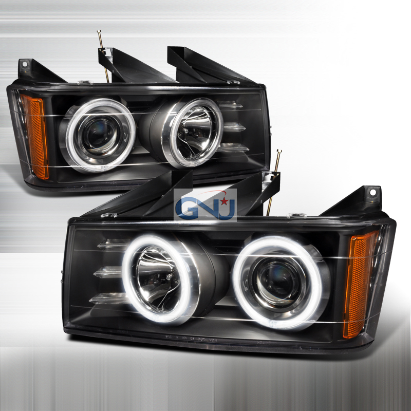 Chevrolet Colorado 2004-2006 CCFL Halo  Projector Headlights - Black