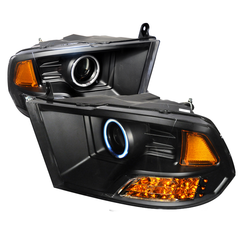 Honda Civic  2006-2011 Black Ccfl Halo Projector Headlights