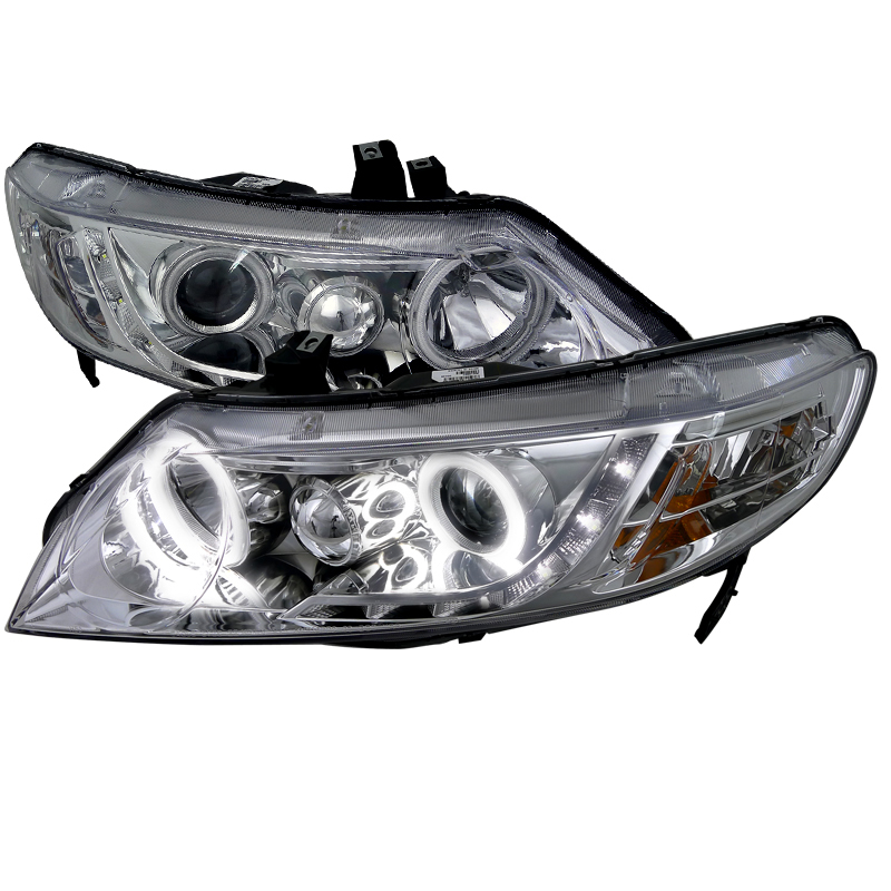 Honda Civic  2006-2011 Chrome Ccfl Halo Projector Headlights