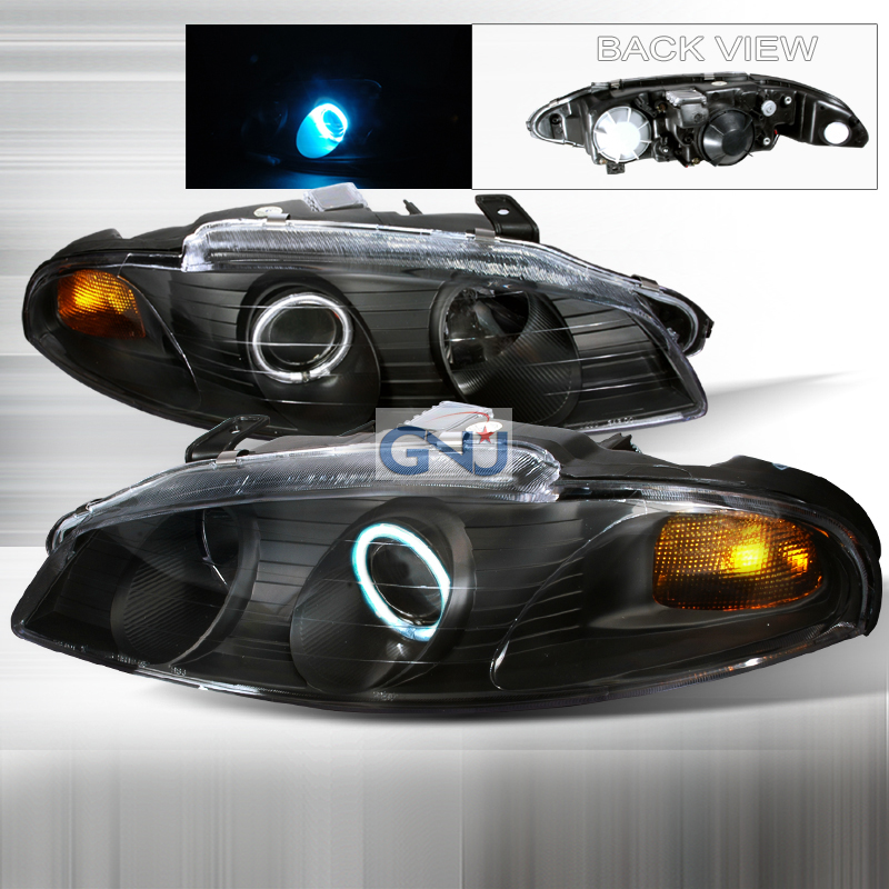 Mitsubishi Eclipse  1997-1999 Black Ccfl Halo Projector Headlights
